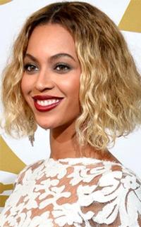 Beyonce's naturally dried bob